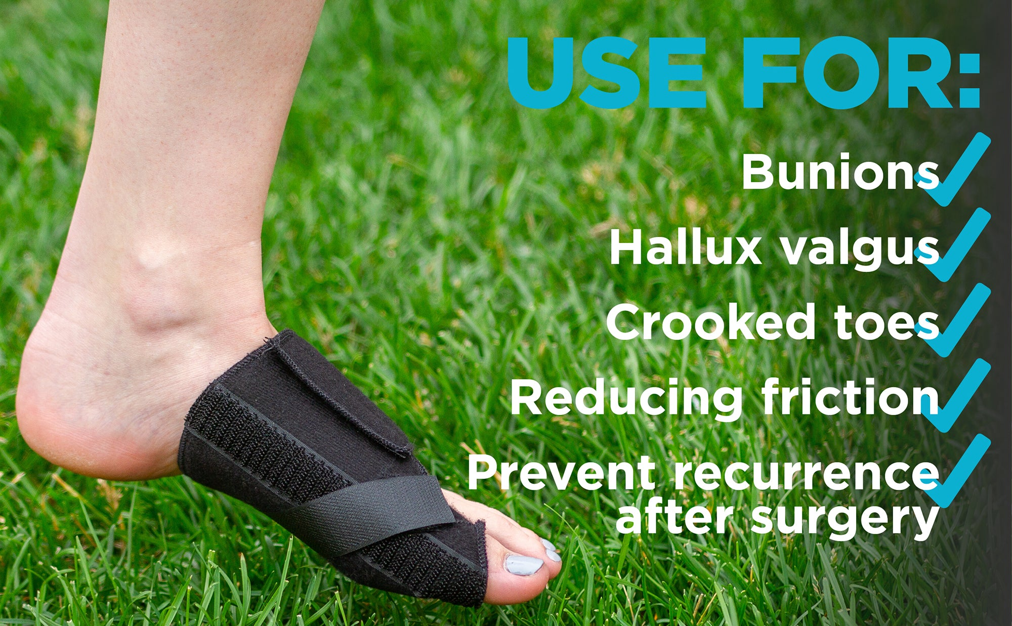 use this bunion splint to correct hallux valgus and crooked toes