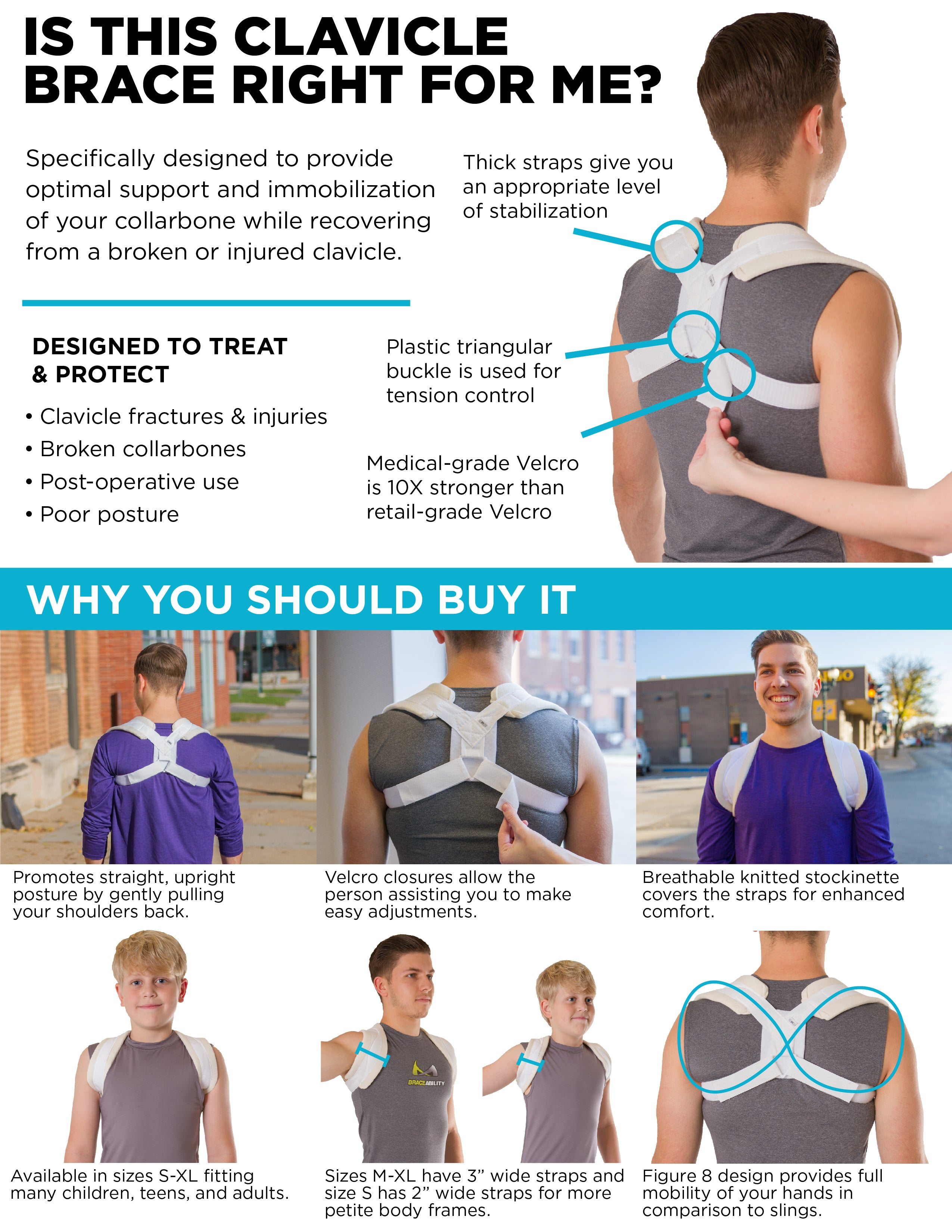 benefits of this broken collarbone brace for clavicle fractures and posture support