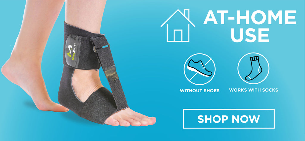 when in need of a comfortable drop foot brace to wear while sleeping, check out the BraceAbility foot drop at-home brace