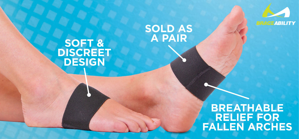 The arch support bands come in a pair to apply compression to both the left and right foot