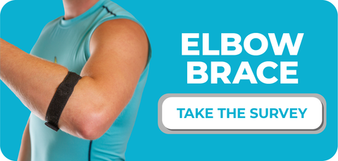 take our survey to let us know how our epicondylitis elbow brace worked for you