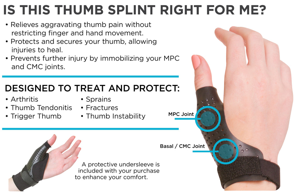 thumb splint to help immobilizer cmc joint