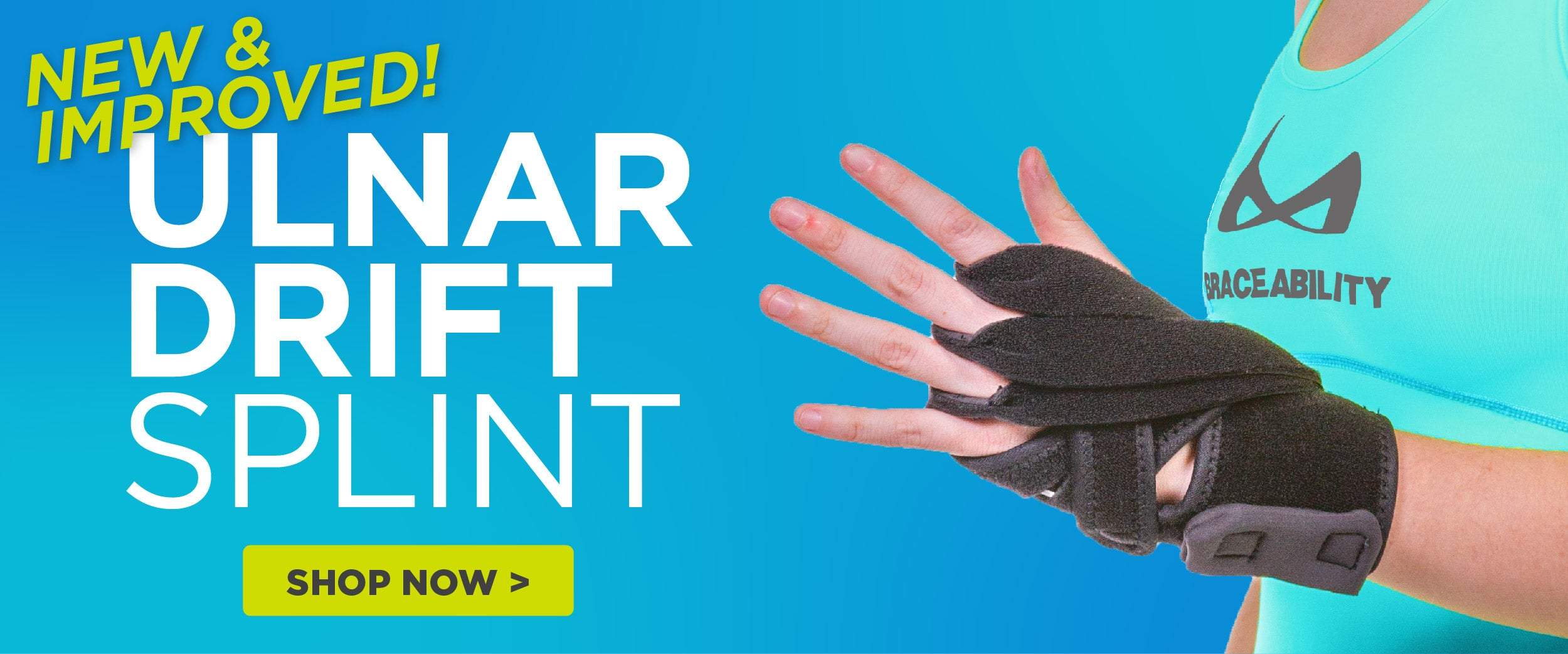 Follow this link to shop our new and improved ulnar drift splint for rheumatoid arthritis