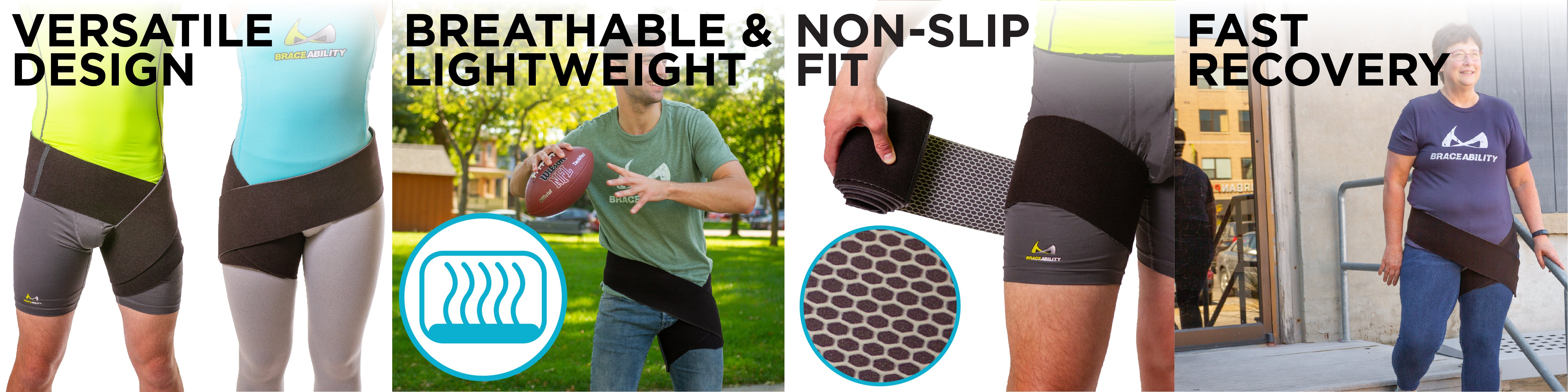 our versatile design makes this hip and groin wrap perfect for sports