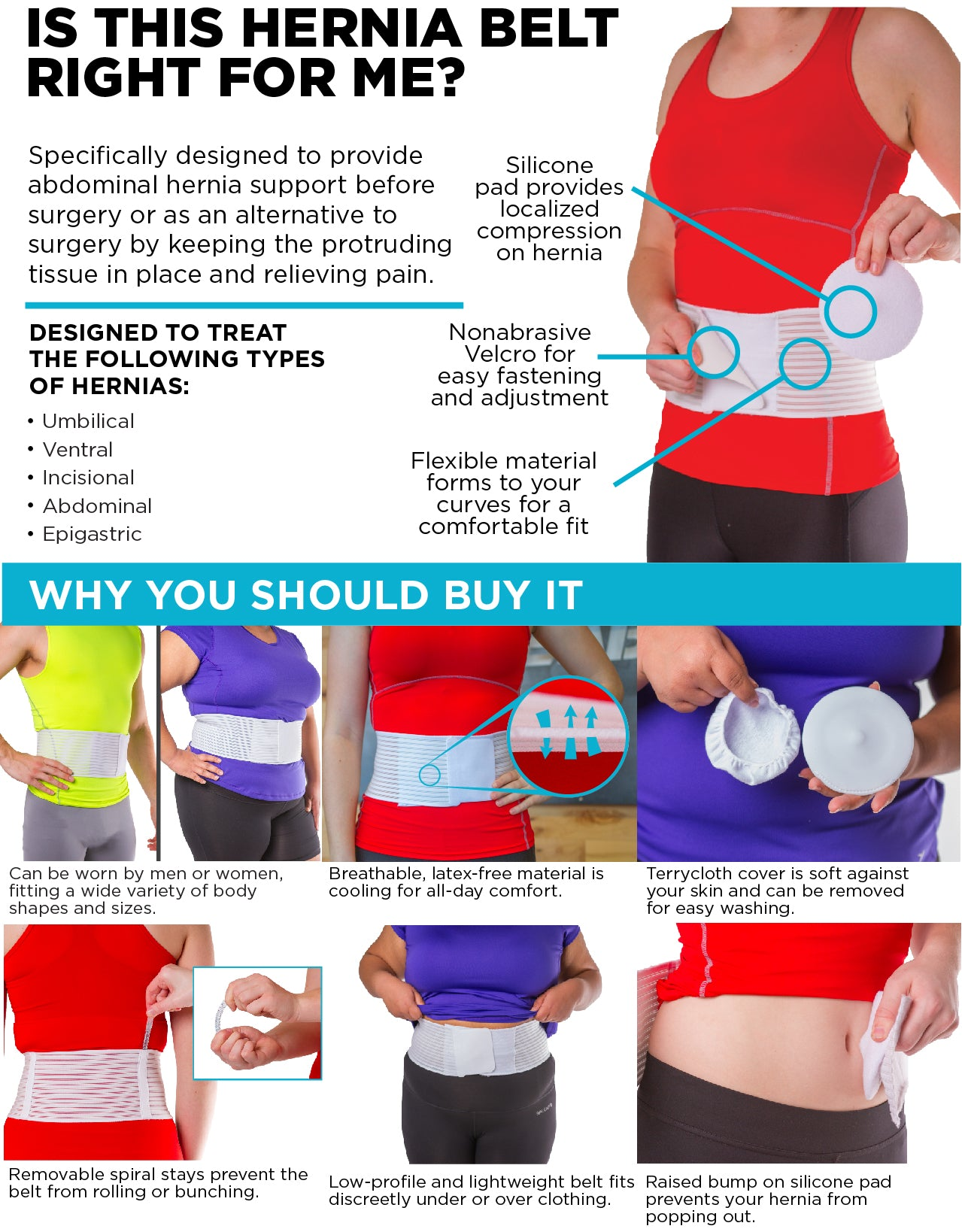 explanation of why this is the best hernia treatment belt works