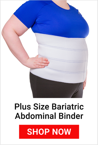 plus size abdominal binder to support womens lower back and abdomen pain