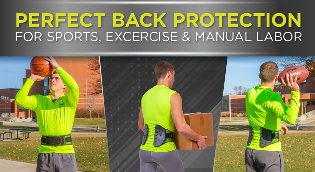 The Sports Back Brace is the perfect support for back protection while being active
