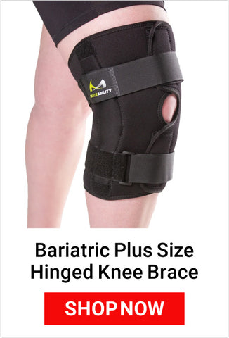 wearing a hinged knee brace can help prevent the chronic pain felt behind a kneecap
