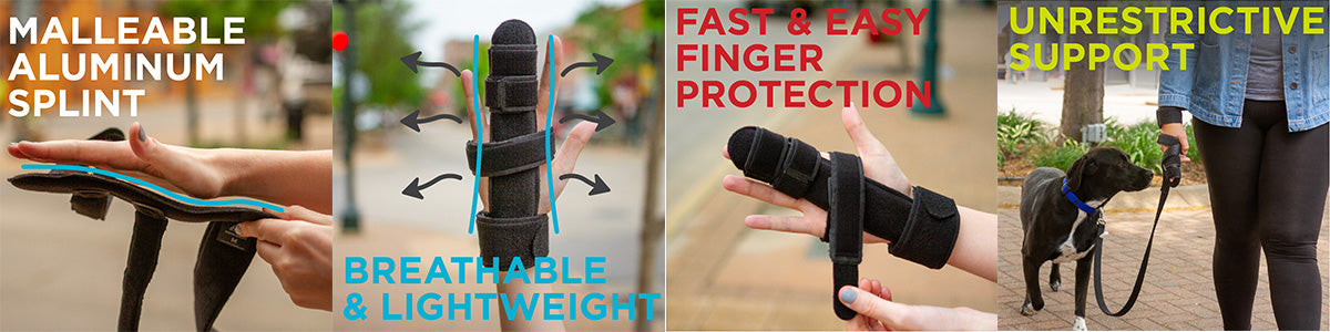 the open palm and wrap around strap make this the best trigger finger splint