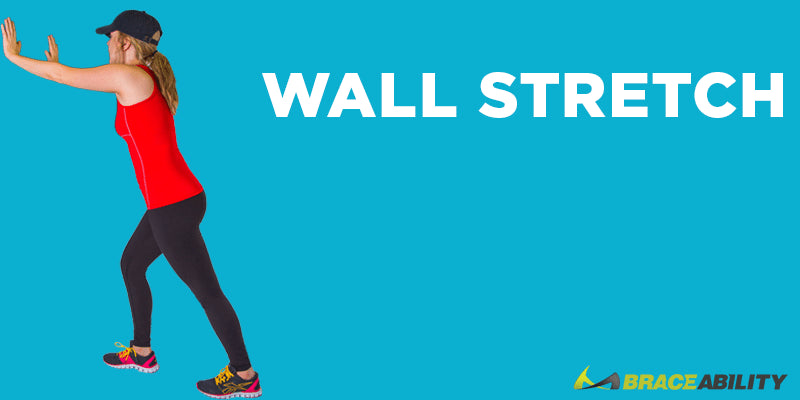 wall stretch exercise to relieve pain from itbs
