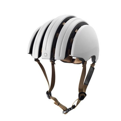 modern and minimalist white bicycle helmet