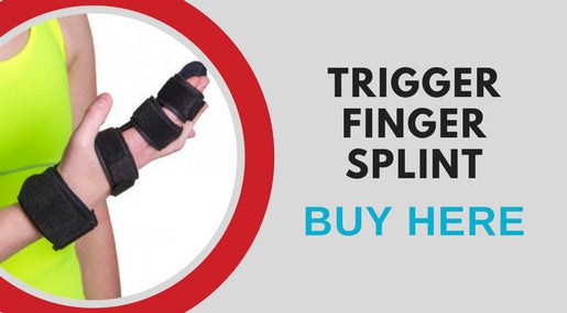 buy a trigger finger splint that will help soothe pain while gardening and around the house