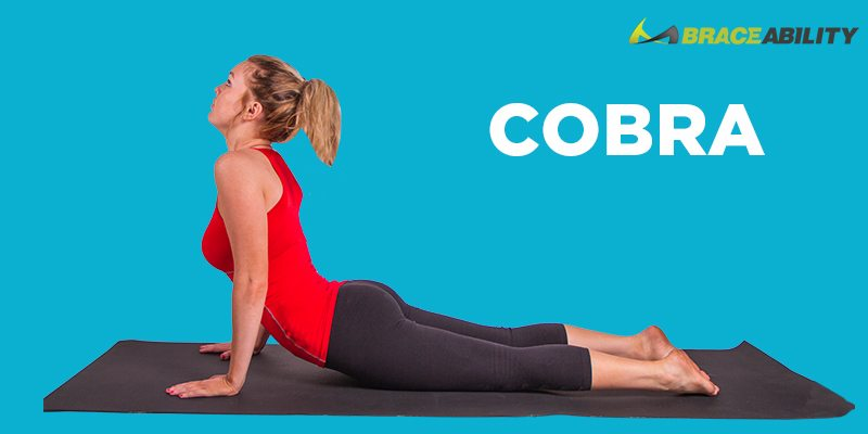 cobra yoga pose to help exercise your shoulders and upper back after surgery for therapy