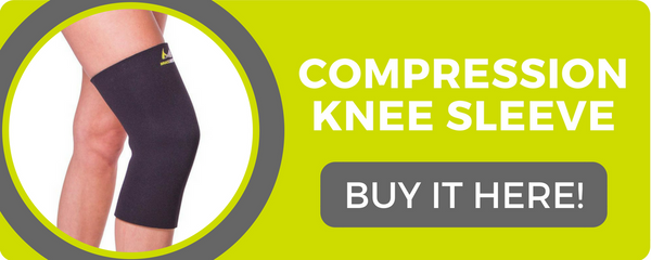 using our compression knee sleeve helps the recovery process after an injury