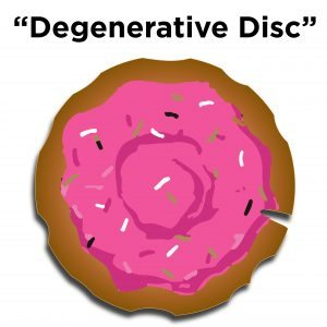 degenerative disc with water loss when compared to a jelly doughnut