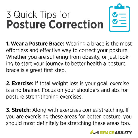 Stretch, exercise or wear a posture brace brace for quick posture correction