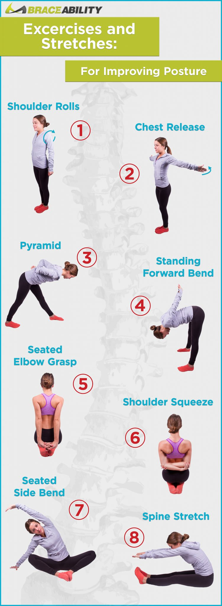 easy posture stretches and exercises for improving posture naturally
