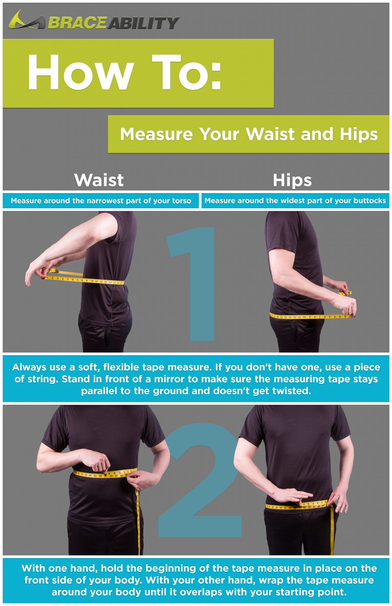 how to measure hips vs waist and explaining the difference