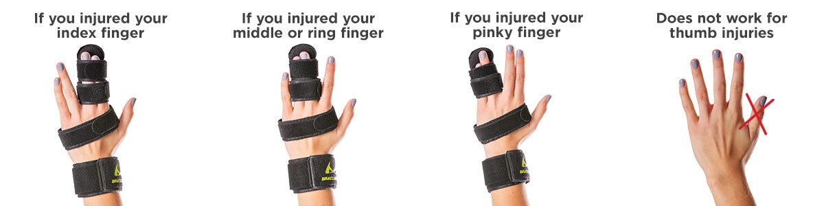 use this graphic to determine the correct way to splint your broken fingers