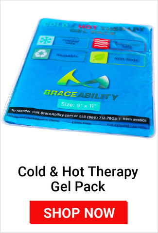using an ice pack on mommy thumb helps prevent swelling and inflammation reducing pain
