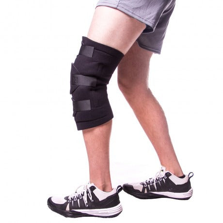 knee wrap with removable cold therapy gel packs for pcl injuries