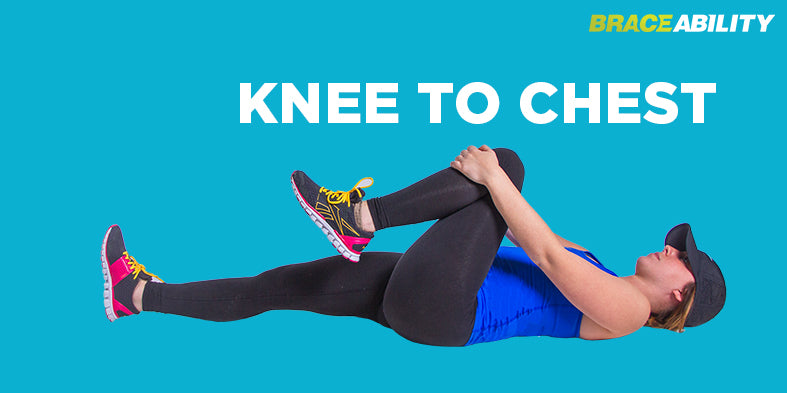 knee to chest exercise to help prevent sciatic nerve pain