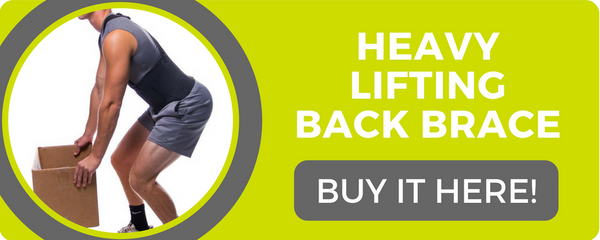 use a heavy lifting back brace to prevent lower lumbar injuries at work