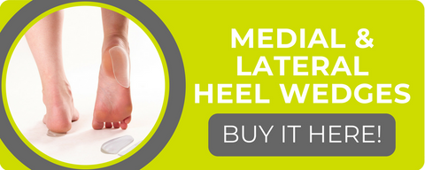 shop for medial and lateral heel wedge insoles for comfort and treatment