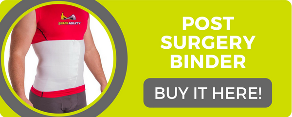 a post surgery compression binder can help keep injuries from occurring again