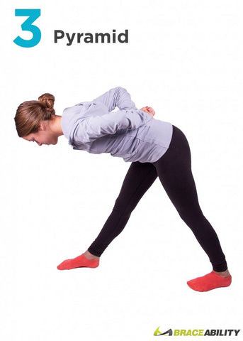 pyramid yoga stretch to correct poor posture