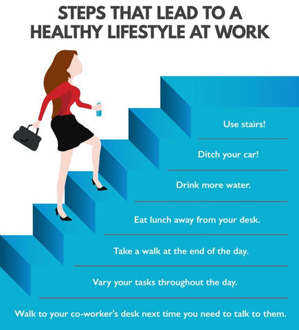 reduce stress and gain a healthy lifestyle while at work