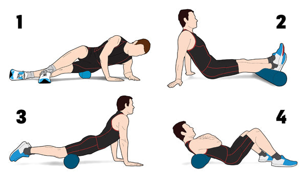 use a foam roller to stretch out your legs for runners knee pain