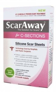 ScarAway post c-section scar treatment strips to reduce tissure