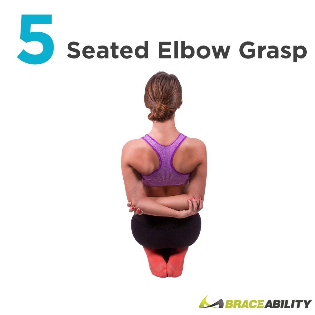 seated elbow grasps to eliminate bad posture easily