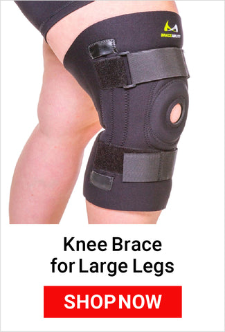 shop our knee brace for large legs