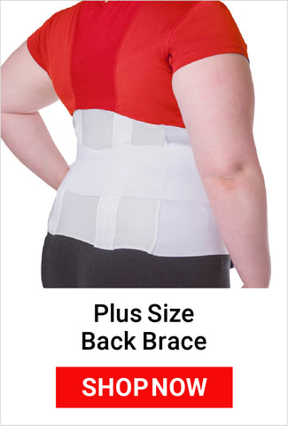 shop for our plus size back brace on our website