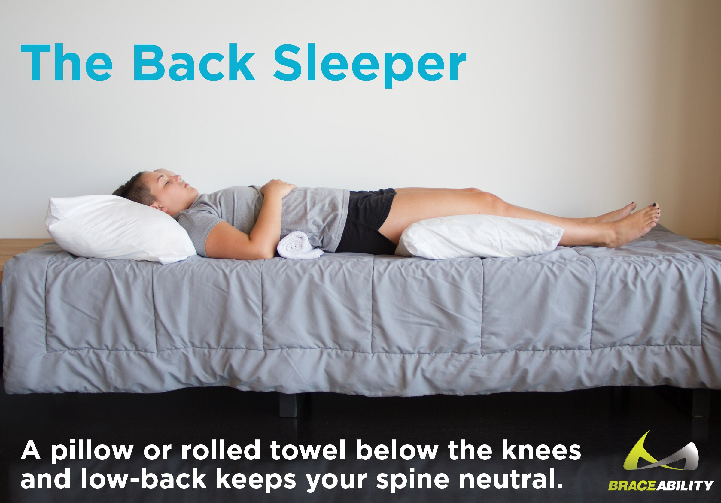 When sleeping on your back keep a pillow under your hips to reduce pain from facet arthropathy