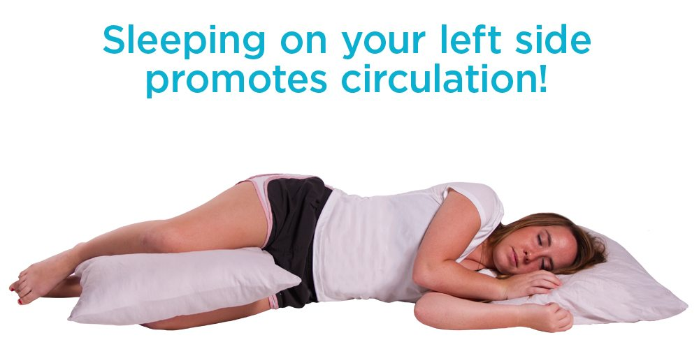 sleep on you left side while pregnant for better circulation and digestion