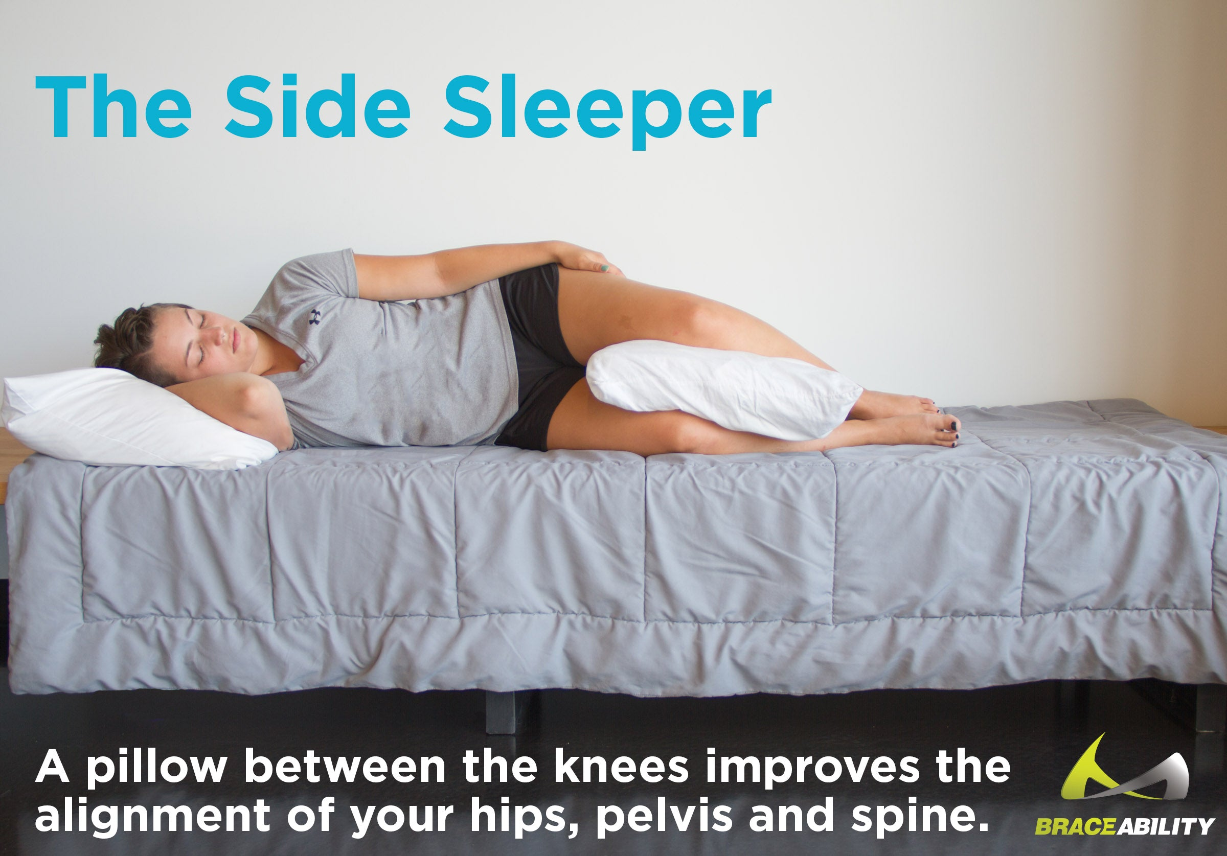 If you sleep on your side with facet arthropathy keep a pillow between your legs to reduce arthritis pain