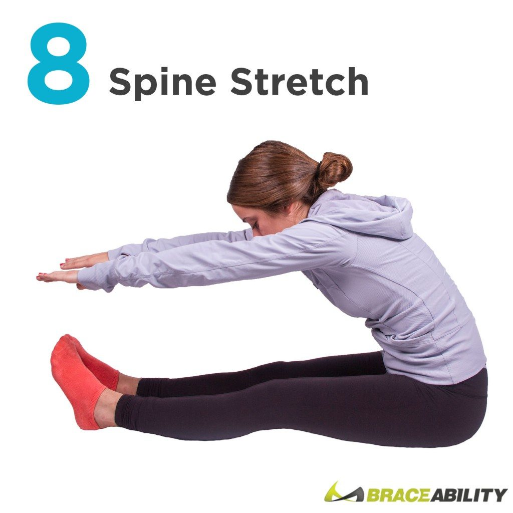 grab your toes to stretch your spine to fix your posture