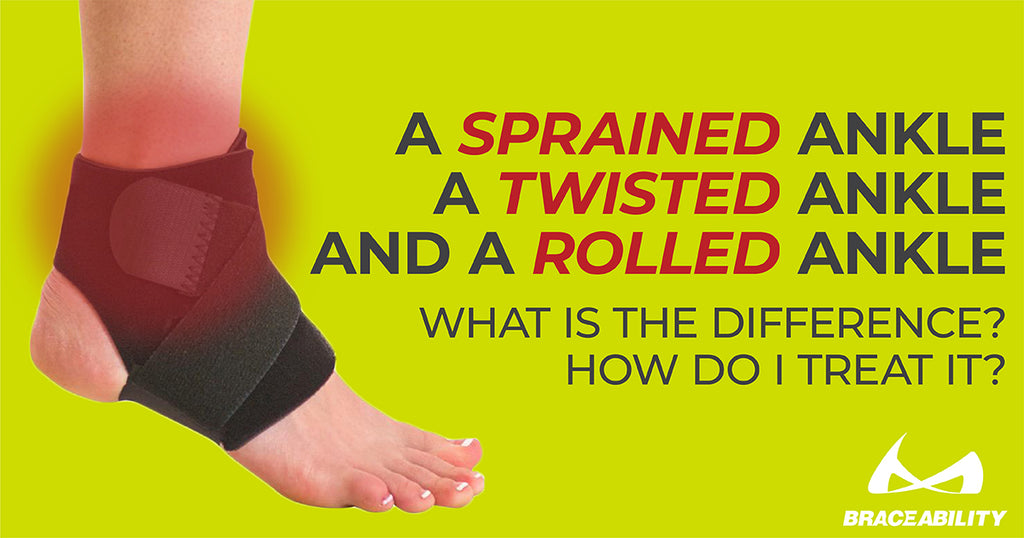 Click to read more about the difference between a sprained ankle and a rolled ankle
