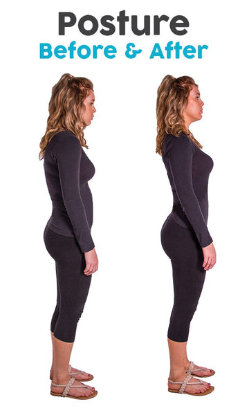 before and after fixing your posture to reduce weight