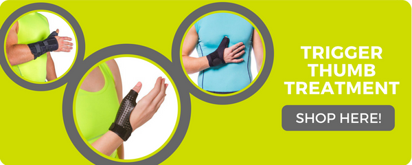 trigger thumb treatment braces to help immobilization and recovery