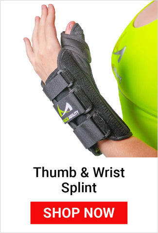 using a thumb and wrist splint helps reduce mommy thumb pain