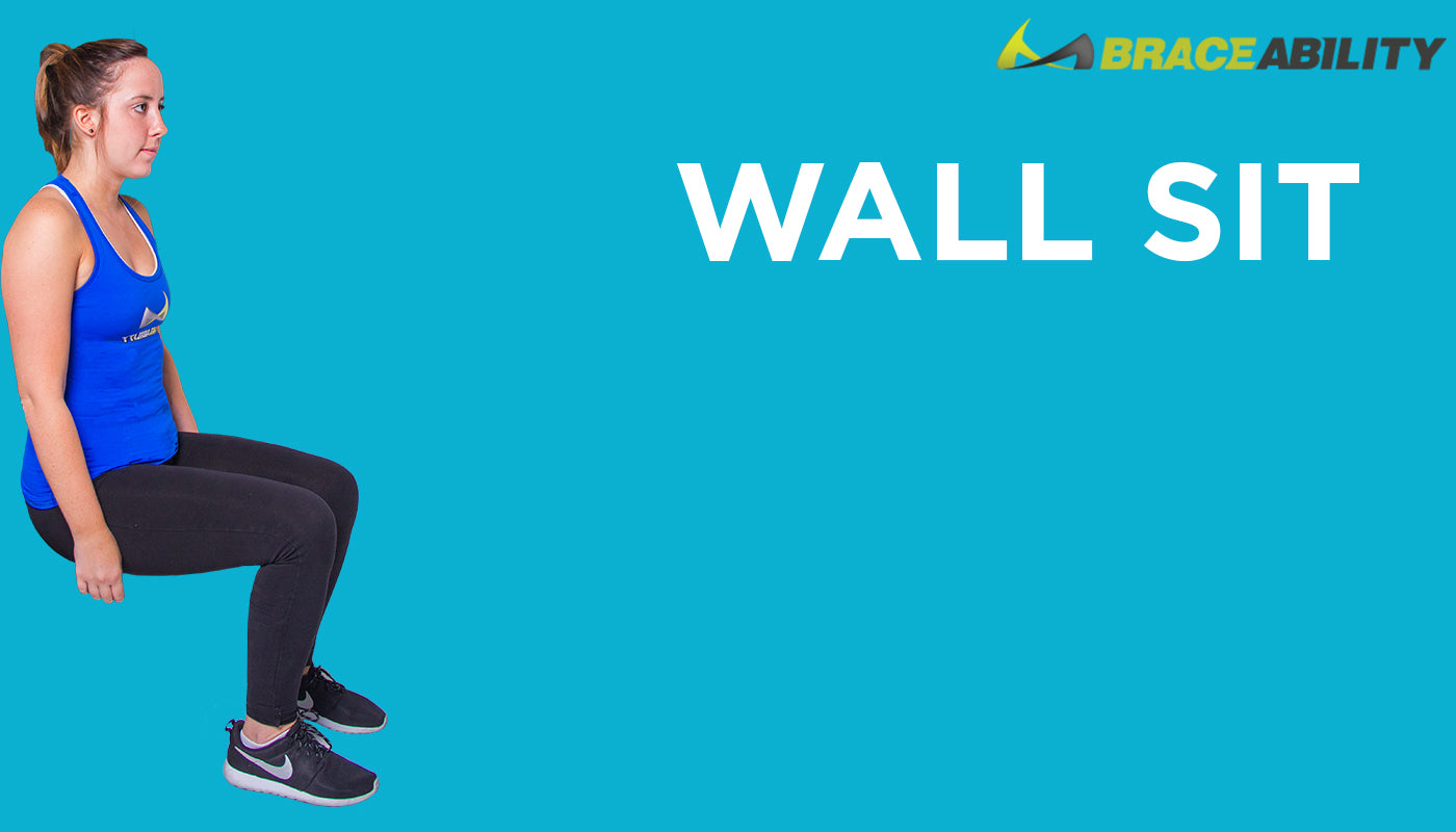 wall sit exercise to prevent pulling or straining of back muscles