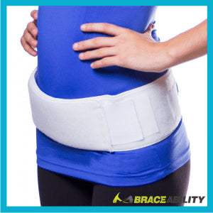 wear a sacroiliac joint belt to help with hip and back pain during pregnancy