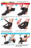 How to put on plantar fasciitis sock instruction sheet