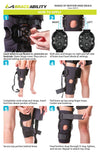 How to put on the meniscus knee brace instruction sheet
