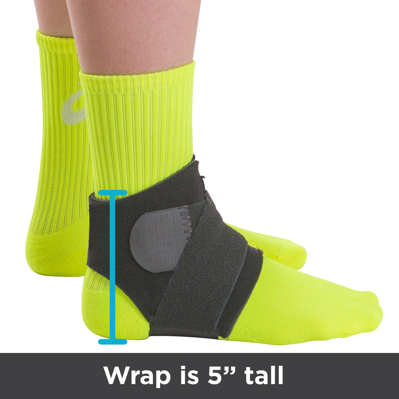 The low profile design of the neoprene ankle brace is only 5 inches tall