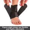 The compression foot wrap for swimming, running and surfing has figure 8 adjustment straps for a very adjustable fit